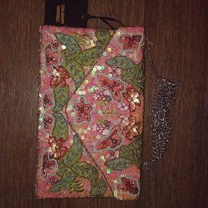 Handbags - NWT Clements Ribeiro BLACK bead embellished purse